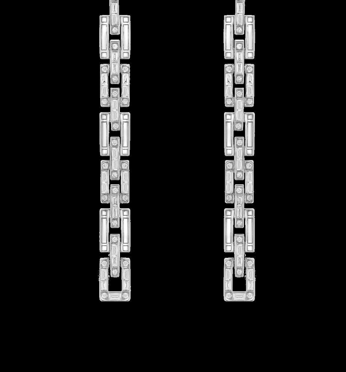 Sirus Chain Diamond Drop Earrings