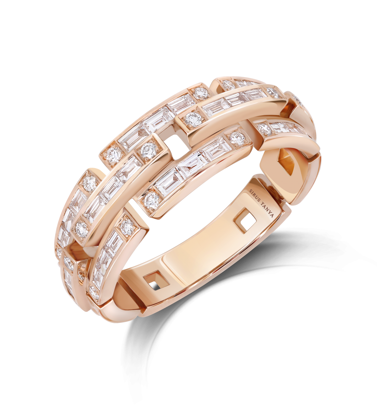 Sirus Chain Half Diamond Ring
